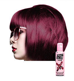 CRAZY COLOUR BURGUNDY ~ SEMI-PERMANENT HAIR COLOUR CREAM ~ CRAZY COLOR Collection