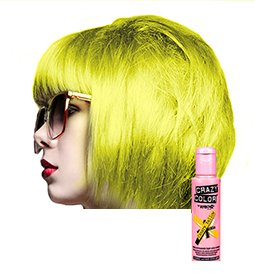 CRAZY COLOUR CANARY YELLOW ~ SEMI-PERMANENT HAIR COLOUR CREAM ~ CRAZY COLOR Collection