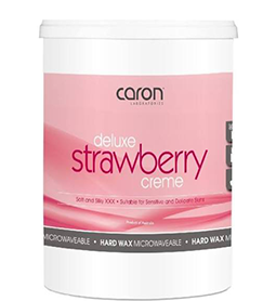 DELUXE STRAWBERRY CREME ~ HOT/HARD WAX ~ CARON Collection