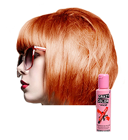 CRAZY COLOUR CORAL RED ~ SEMI-PERMANENT HAIR COLOUR CREAM ~ CRAZY COLOR Collection