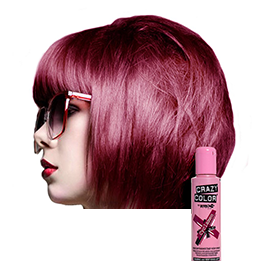 CRAZY COLOUR CYCLAMEN ~ SEMI-PERMANENT HAIR COLOUR CREAM ~ CRAZY COLOR Collection