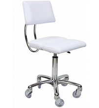 Load image into Gallery viewer, Dove ~ White ~ Chrome Stool ~ Joiken Collection ~ Rubys Salon Supplies
