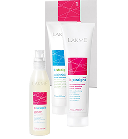 LAKME ~ K_STRAIGHT IONIC '1'~ SENSITIVE & POROUS HAIR ~ STRAIGHTENING SYSTEM ~ LAKME Collection