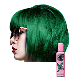 CRAZY COLOUR EMERALD GREEN ~ SEMI-PERMANENT HAIR COLOUR CREAM ~ CRAZY COLOR Collection