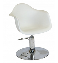 Load image into Gallery viewer, Erica ~ Hydraulic Styling Chair ~ White ~ Joiken Collection ~ Rubys Salon Supplies