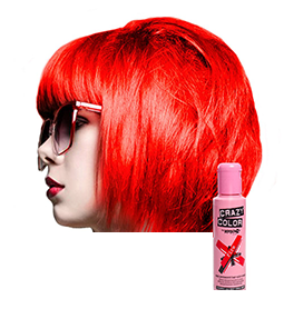 CRAZY COLOUR FIRE ~ SEMI-PERMANENT HAIR COLOUR CREAM ~ CRAZY COLOR Collection