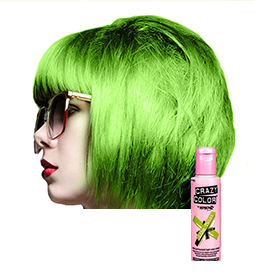 CRAZY COLOUR LIME TWIST ~ SEMI-PERMANENT HAIR COLOUR CREAM ~ CRAZY COLOR Collection