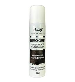 MEDIUM to DARK BROWN ~ ZERO GREY ~ 75ml ~ ROOT CONCEALER Collection