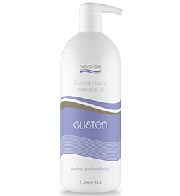 LAVENDER ~ GLISTEN ~ MASSAGE OIL ~ 1 Litre ~ NATURAL LOOK Collection