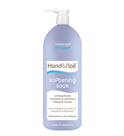 HAND & NAIL SOFTENING SOAK ~ 1 Litre ~ NATURAL LOOK Collection