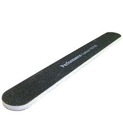 File 100/180 ~ PERFORMANCE  BLACK STRAIGHT  CUSHION ~ WHITE CORE ~ FILE Collection
