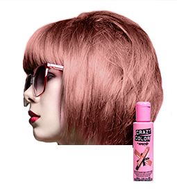 ROSE GOLD ~ SEMI-PERMANENT HAIR COLOUR CREAM ~ CRAZY COLOR Collection