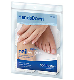 NAIL WIPES ~ 200Pk ~ LINT FREE ~ HANDSDOWN Collection