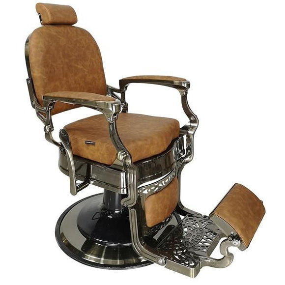 JOIKEN HAVANA ~ BARBER CHAIR ~ TAN UPHOLSTERY ~ JOIKEN COLLECTION
