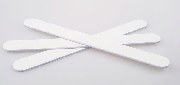 BULK BUY 10 for $17 ~ 120/220 ~ WHITE  STRAIGHT  CUSHION ~ WHITE CORE ~ NAIL FILE Collection