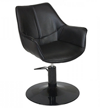 Load image into Gallery viewer, KATE ~ HYDRAULIC ~ STYLING CHAIR ~ BLACK ~ JOIKEN Collection