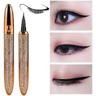BEAUTY and NAILS Magnetic Liner for lashes with Rose Gold Bling Case