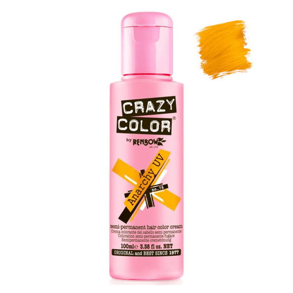 CRAZY COLOUR ANARCHY UV ~ SEMI-PERMANENT HAIR COLOUR CREAM ~ CRAZY COLOR Collection