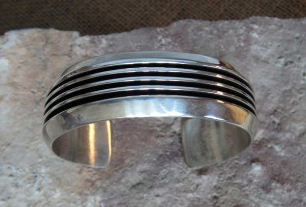 Sterling Silver Ribbed Bracelet