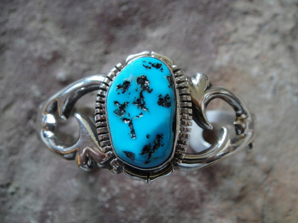 Sleeping Beauty Turquoise Sterling Silver Cuff Bracelet