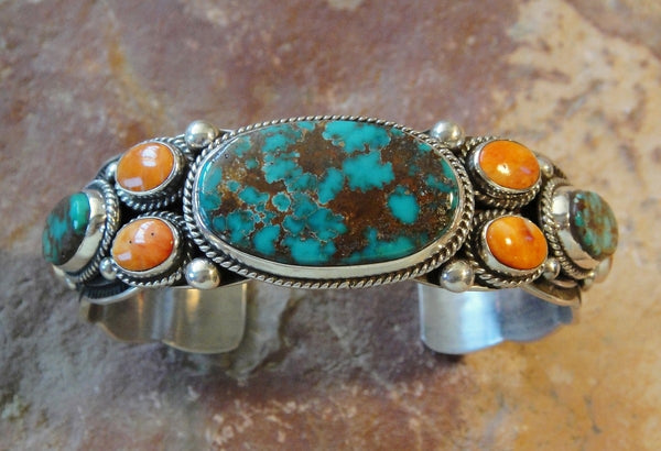 Pilot Mountain Turquoise Sterling Silver Bracelet