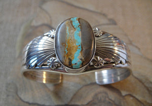 Boulder Turquoise Bracelet - Angle view