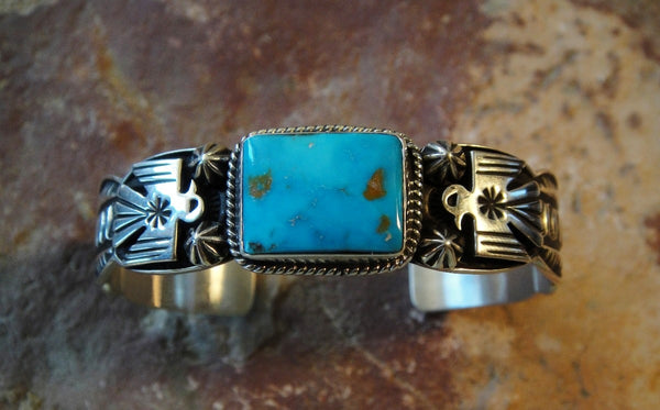 Valley Blue Turquoise Sterling Silver Bracelet