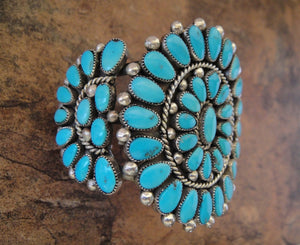 Zuni Turquoise Cuff Bracelet - Side View