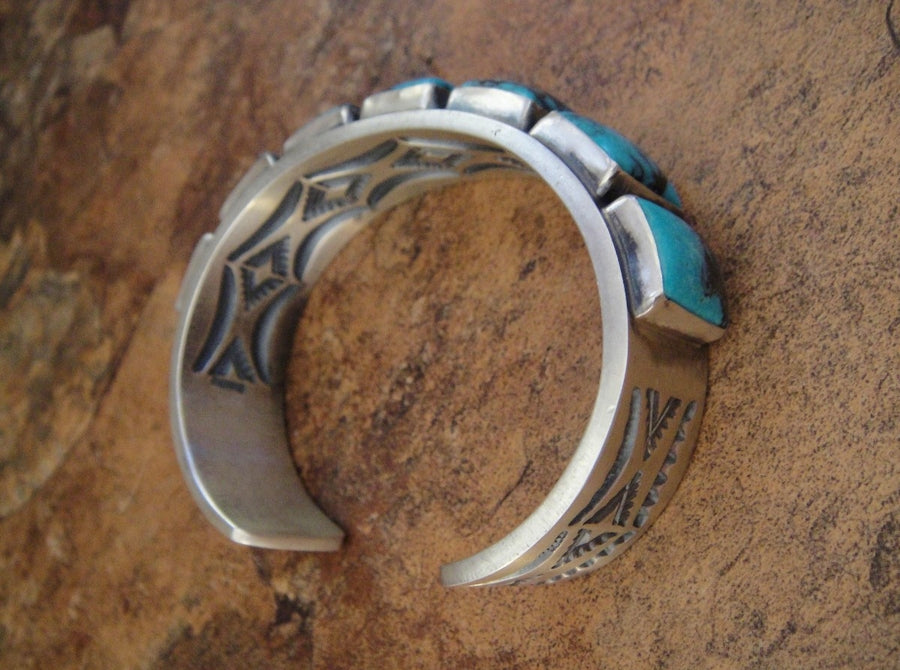 Seven Stone Turquoise Cuff Bracelet