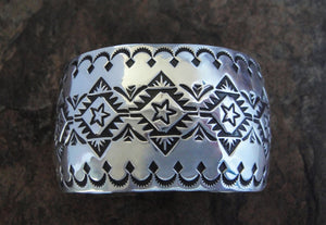 Sterling Silver Star Stamped Cuff Bracelet
