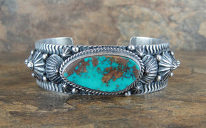 Pilot Mountain Turquoise Sterling Silver Cuff Bracelet