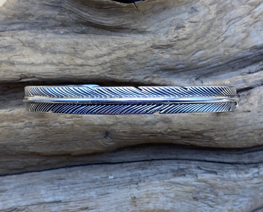 Thin Feather Bracelet