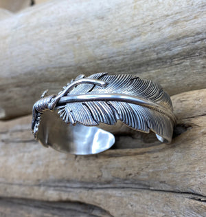 Double Feather Cuff Bracelet