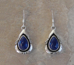 Lapis Lazuli with Sterling Silver Tear Drop Earrings
