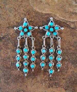 Zuni Star Cluster Earrings