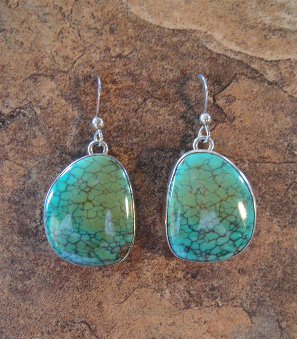 Turquoise French Hook Earrings