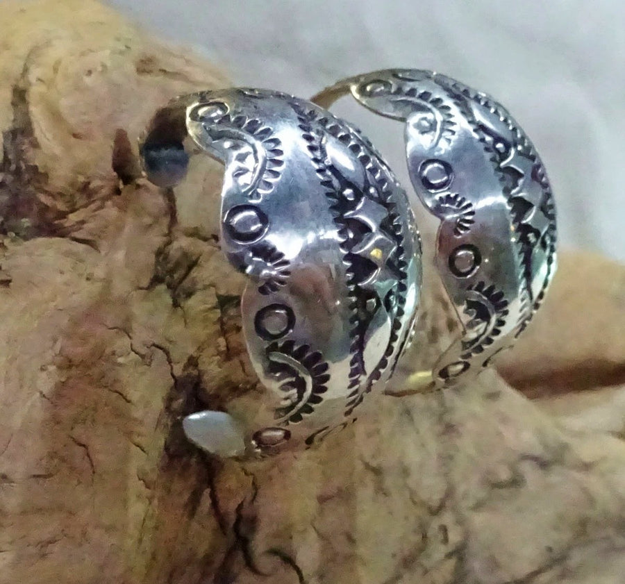 Sterling Silver Hoop Post Earrings