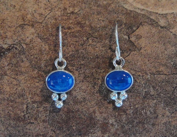 Lapis Lazuli French Hook Earrings