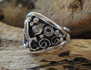 Men's Sterling Silver Eagle Ring -Second Side View
