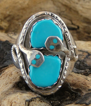 Zuni Turquoise & Sterling Silver Ring