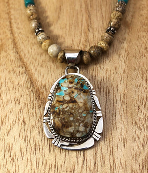 Boulder Turquoise Necklace - Close Up