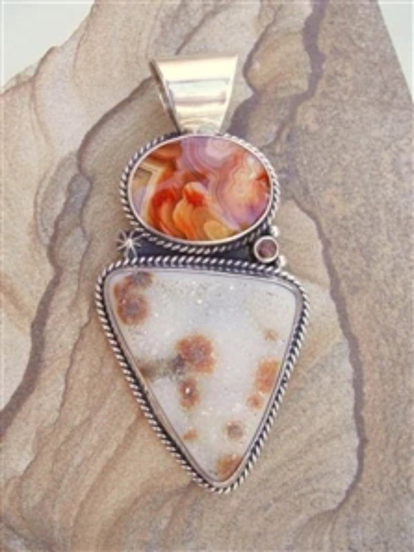 Druzy and Agate Pendant