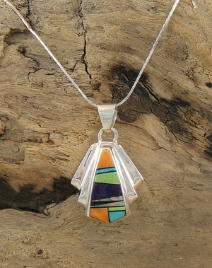 Multi-stone Inlaid Pendant