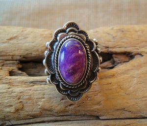 Sugilite Sterling Silver Ring