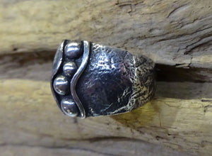 Navajo Sterling Silver Ring - Side View