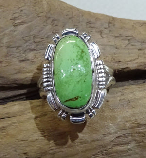 Gaspeite Sterling Silver Ring
