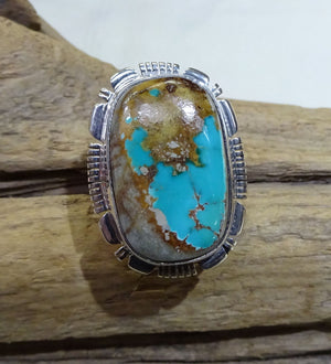 Boulder Turquoise Sterling Silver Ring