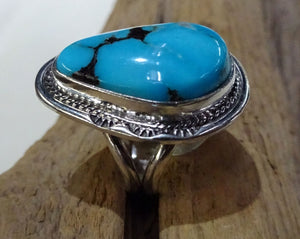 Sleeping Beauty Turquoise Ring - Side View
