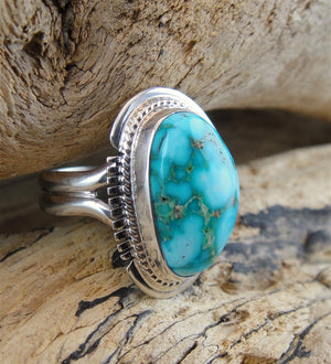 Turquoise Mountain Turquoise Ring - Side View