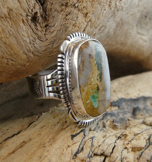 Boulder Turquoise Ring - Side View